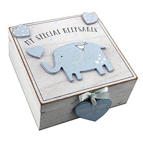 Boîte à souvenirs en bois pour bébé garçon Style vintage