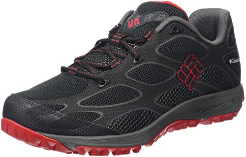 Columbia Conspiracy Iv Outdry, Scarpe Sportive Outdoor Uomo Nero (Black/ Bright Red)