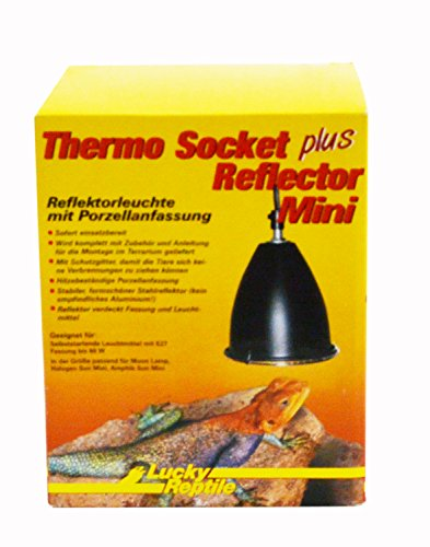 Lucky Reptile HTR-3 Thermo Socket plus Reflector Mini, Reflektorleuchte mit Porzellanfassung