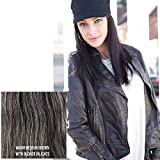 "Milano Collection Hat Wig 100% Premium Human Hair 21"" Long Straight Style Medium Brown #8/16"