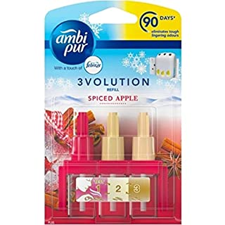 Ambi Pur Pack of 6 3volution Electric Refill Air Freshener - Spiced Apple
