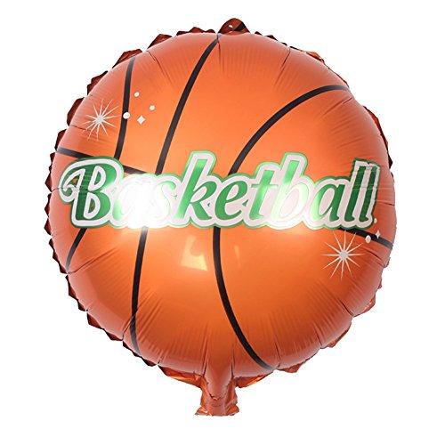 n/Ballon, 45,7 cm, aufblasbar, rund, für Fußball/Volleyball/Basketball, Ballon, Spielzeug, Kindergeburtstag, Party, Geschenke, 10 Stück Basketball ()