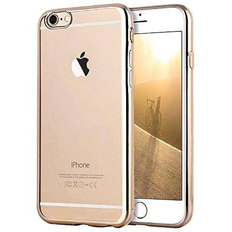 Coque iPhone 6/6s Plus, Transparent Clair Gel Silicone [Ultra Slim] + [Anti-Rayures] + [Anti-Choc] Bumper en TPU Souple Coque Clair Étui Housse pour Apple 6/6s Plus - 5.5 Pouces