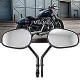 Specchietto Triangolare Laterale Convesso Universale Moto Cruiser Chopper Custom Argento