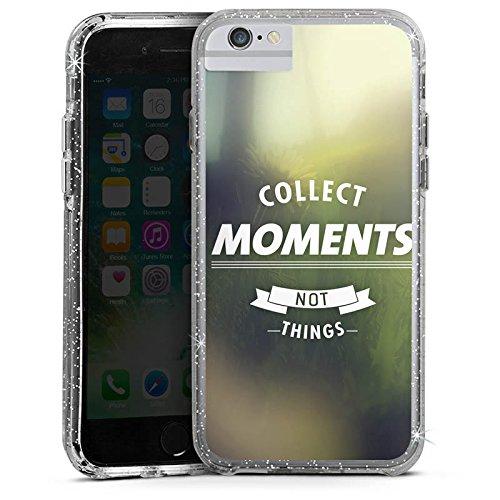 Apple iPhone 8 Bumper Hülle Bumper Case Glitzer Hülle Moment Sayings Phrases Bumper Case Glitzer silber