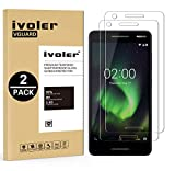 iVoler [2 Stücke] Panzerglas Schutzfolie für Nokia 2.1 / Nokia 2 2018 [9H Härte] [Anti- Kratzer] [Bläschenfrei] [2.5D R&e Kante]