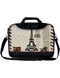"""Luxburg® 15"""" Sac à Bandoulière/ Business bag pour ordinateur portable avec poignée - Tour Eiffel"""
