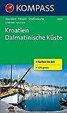 Kroatien - Dalmatinische Küste: Wanderkarten-Set. GPS-genau. 1:100000: 3-delige Wandelkaart 1:100 000 (KOMPASS-Wanderkarten, Band 2900)