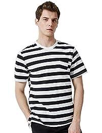 b83769d176 Amazon.es  camiseta rayas negras y blancas - Camisas casual ...