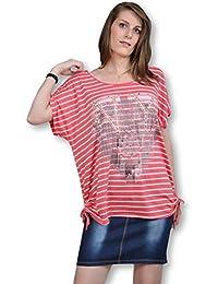 Tee shirt femme - Tee shirt manche courte rayé fin de collection