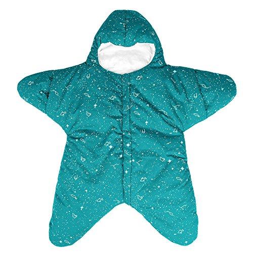 jährig 0-8 Monate Personalisierte Entwurf Sternform Reißverschluss Frontseite Grün ()