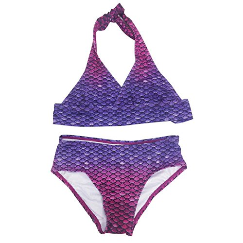 SUN TAILS Meerjungfrauen Bikini Bali Blush Set für Kleinkinder Kinder und Erwachsene Nackenträger Strandmode XL