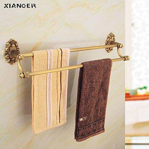 KHSKX Il rame antico spesso il doppio bronzo portasciugamani asciugamano