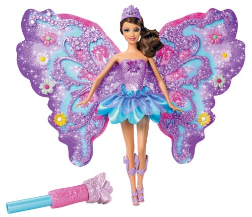 Mattel Barbie W4470 - Puppe Zauberhafte Blumenfee, brünett