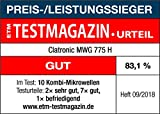 Clatronic MWG 775 H/ Mikrowelle mit Grill und Heißluft - 6
