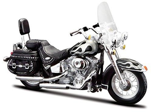 Harley Davidson, 2002 FLSTC Heritage Softail Classic(32), Maisto Motorrad 1:18 Harley Davidson Motorrad