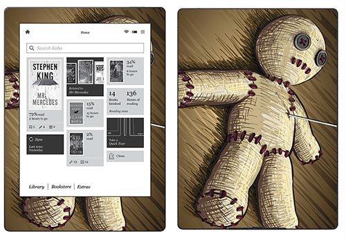 Royal adesivo RS.117174adesiva per Kobo Aura H2O, motivo: Voodoo Doll