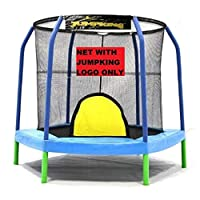 Bazoongi NETHX7.5-JP6-5JK 7.5 ft. Enclosure Netting Hexagon with 6 Poles & 5 in. Springs with Jump King Logo