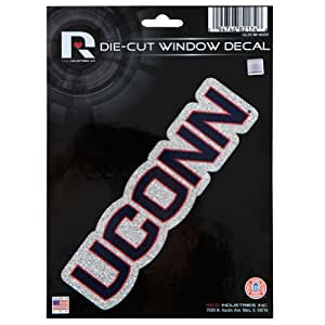 uconn huskies glitzer buchstaben die cut aufkleber. Black Bedroom Furniture Sets. Home Design Ideas