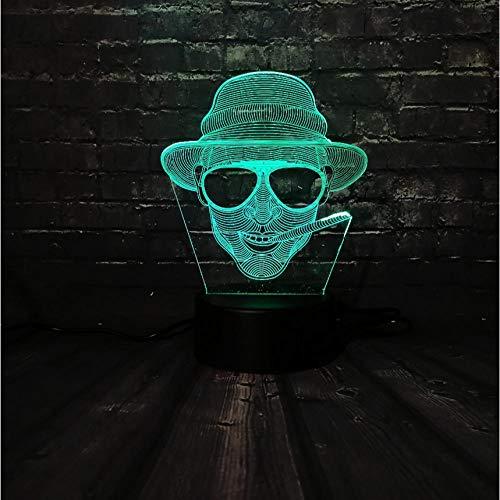 Led Nachtlicht Cool Man Sonnenbrille Junge Dekoration Lampe Schlafzimmer Schlaf Licht 7 Farbwechsel Kind Weihnachten Junge Geschenk Spielzeug Fernbedienung