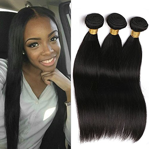 Mèche Bresilienne Lot 3 Paquets Cheveux Bresilien Tissage Straight Weave  100% Remy Cheveux Humain. 483daef21a3