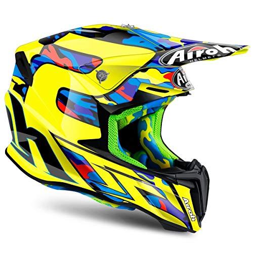 Airoh Twist Off Road Enduro MX Motocross Helmet - TC16 Yellow / Black XS