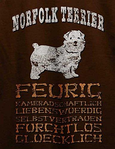 Hund Norfolk Terrier Herren T-Shirt Braun