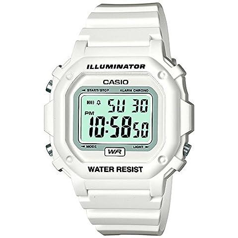 Casio Gents Illuminator White Resin Strap Watch F-108WHC-7BEF