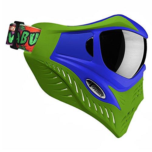 VForce Erwachsene Leonardo Grillmaske Paintball-Maske, Grün, One Size