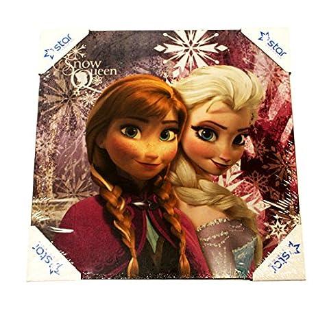 Disney Frozen Die Eiskönigin Leinwand Bild Druck Deko 40 x 40cm (Anna und Elsa 2) (Spongebob Bilder)