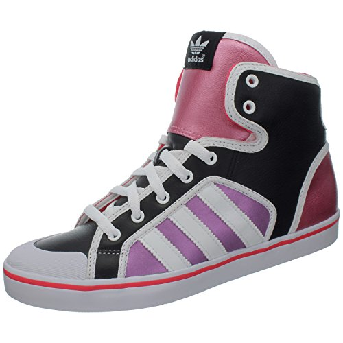 adidas Damen Honey Hoop W Gymnastikschuhe, Nero (BLACK1/RUNWHT/BLAPNK), 37 EU