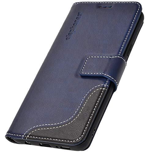elephones Schutzhülle kompatibel mit Samsung Galaxy S8 Hülle Handyhülle Handy-Tasche Wallet Case Cover Blau Samsung Blau Case