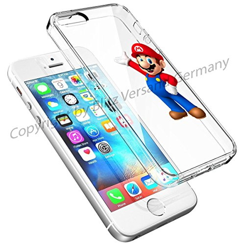 Blitz® DISNEY Schutz Hülle Transparent TPU Cartoon Comic Case iPhone 4/4s Joker/Batman Super Mario