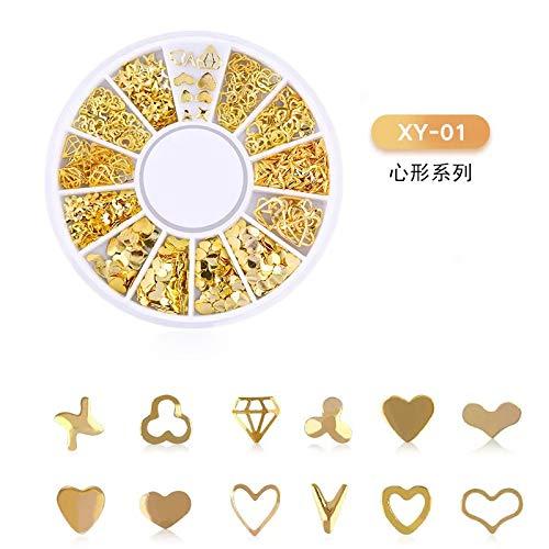 SUNQQL Stern Mond Liebe Metall Auge Make-up Stick Strass Pony Gesicht Dekoration Patch Maniküre DIY Schmuck Aufkleber,Z88
