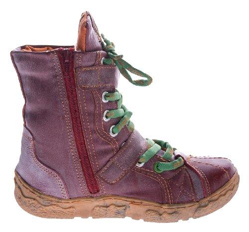 Botas Tma Botas Sapatos De Tornozelo Vermelhas 42 Inverno Couro 36 Realmente Gr 7087 Forrada Senhora Botas de Confortáveis z1v7R7