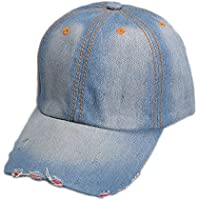 Da.Wa Gorra de béisbol del Vaquero Hats Hip-Hop Sombrero de Sol Verano para Protector Solar al Aire Libre Deporte para Unisexo(Azul Claro)