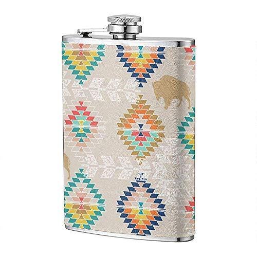 Sandy Southwest Diamonds Flachmann Pocket Bottle Flagon 8Oz Tragbarer Edelstahl Flagon Camping
