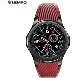 LEMFO LF16 Smart Watch Podómetro Bluetooth Monitorización del Ritmo Cardíaco Smart Watch (Color: Rojo)