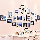 YKDDII Marco de Fotos Marcos Colgantes para decoración de Pared Papel de Pared Marco de Fotos Juego...