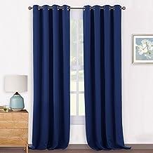 rideaux bleu marine. Black Bedroom Furniture Sets. Home Design Ideas