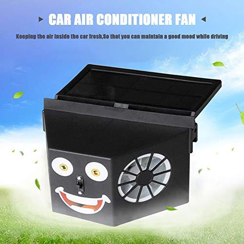 juman Solarbetriebene automatische Kühlung Doppel Auspuff Fahrzeugventilator Solar Lüftungsventilator Klimaanlage Fan für Camping Caravan Wohnmobil Zelt Auto Gewächshaus Schuppen