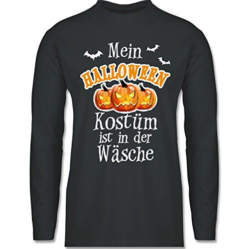 Halloween - Mein Halloween Kostüm ist in der Wäsche - Longsleeve / langärmeliges T-Shirt für Herren Anthrazit