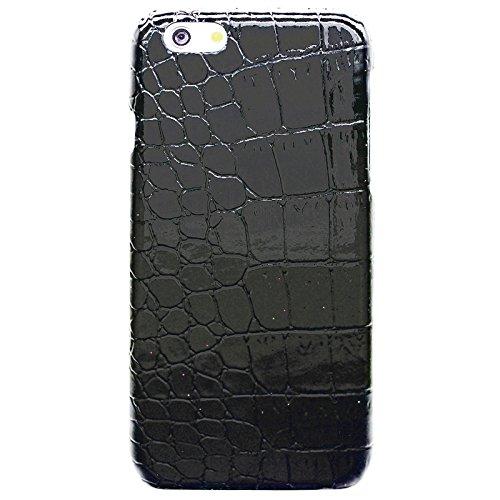 Wkae Case Cover Krokodil Textur Leder Skinning Plastics Fall für das iPhone 6 Plus &6S plus ( Color : Pink ) Black