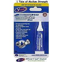 V-Tech - Adhesivo de bloqueo de roscas (potencia media, 6 ml), color azul