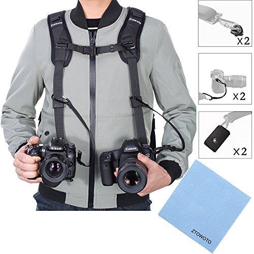 Ztowoto Kameragurt Schnellverschluss Neopren Schwarz Kamera Tragegurt Schultergurt Gurt für Canon Nikon Sony Fujifilm Olympus DSLR SLR -
