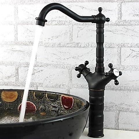ponte phasat® montato due manici con un foro rubinetto della cucina in bronzo lucidato a olio