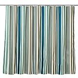Gestreifte wasserdichte duschvorhang, Gepolsterte Wasserdicht Mehltau Bad Wand vorhang, Badezimmer Polyester Dusche vorhang, Vorhang-A 180x200cm(71x79inch)