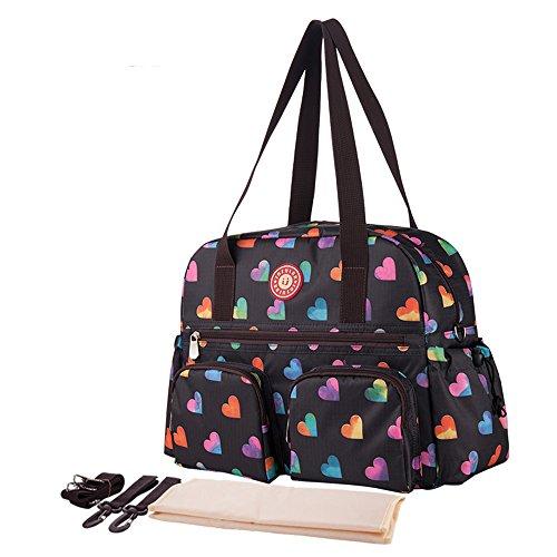 Chilsuessy Baby Wickeltasche Reisen Tasche Handtasche, großes Fassungsvermögen, Isolierung, Passform für Kinderwagen, Windel Schultertasche Tragetasche, 4# 6#
