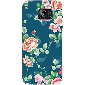 Casotec Vintage Floral Design Hard Back Case Cover for Samsung Galaxy S7