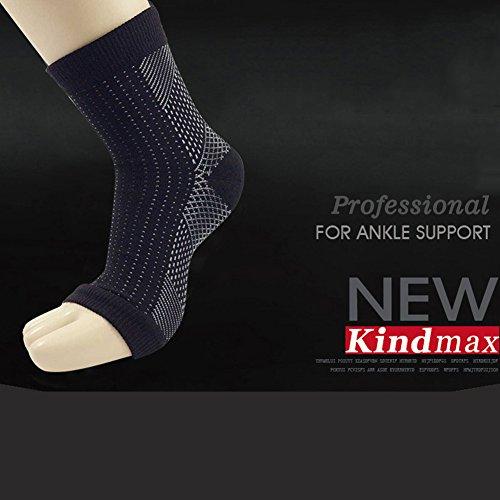 letton Unisex-Schmerzlinderung Knöchel Unterstützung in der Hülle mit Kompression Bandage für Massage und Yoga-Socken für Fußball, Laufen, FR.HH-WS, S